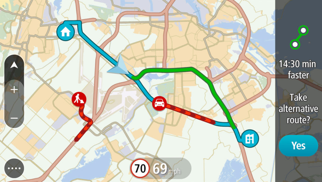 Our TomTom GPS units receive realtime traffic